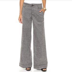 Free People wide tweed trousers